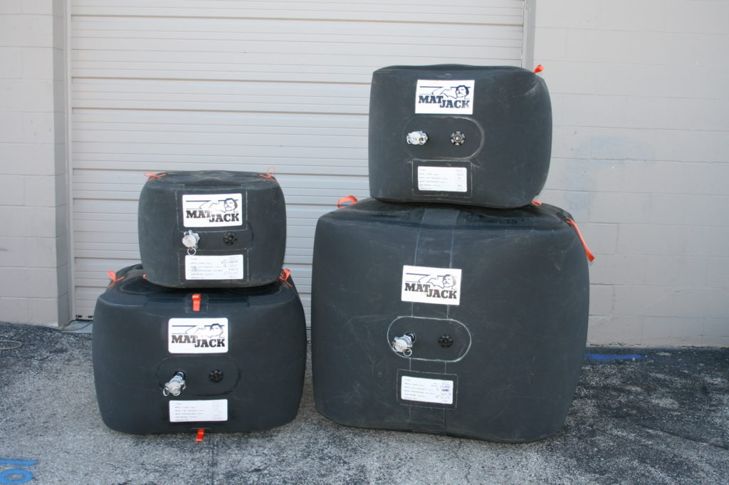 Lineup of medium pressure lifting cushions in various sizes