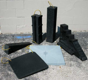 recycled plastic cribbing products for rigging