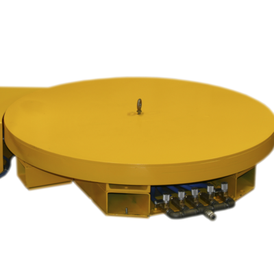 revolving industrial turntable for manufacturing by hovair systems