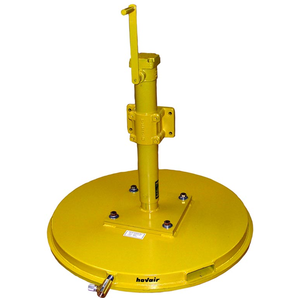 side mounted lifting jack with crank on top of hovair air bearing
