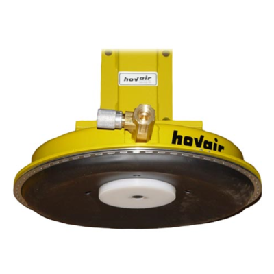 rubber diaphragm underneath hovair air bearing with lifting jack mounted on top