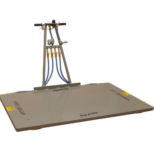 Hovair air pallet platform with control handle