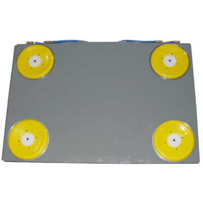 rubber air bearings on the underside of air pallet by hovair